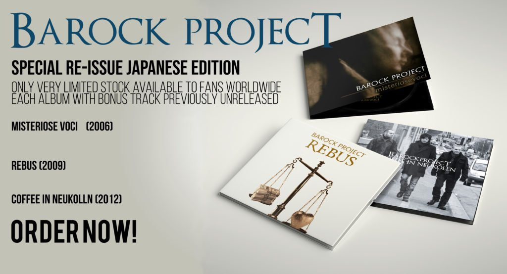 Barock Project FIRST 3 ALBUM SPECIAL RE-ISSUE JAPANESE EDITION |